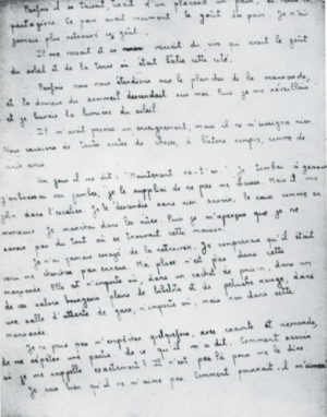 A page from the 'Prologue' of Simone Weil's notebooks, written in Marseilles in the spring of 1942.