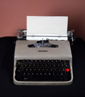 Olivetti Typewriter. Photograph by Richard M Simmons