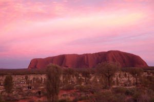 Sunset over Uluru / Ayers Rock. Photo by Richard Twinch