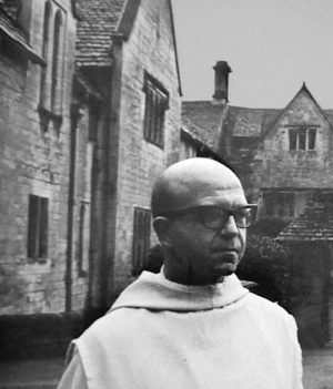 Dom Sylvester Houedard at Prinknash Abbey, courtesy William Allen Word & Image
