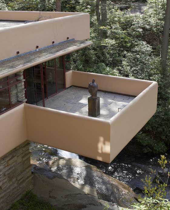 A terrace at Fallingwater. Photograph courtesy of the Western Pennsylvania Conservancy.