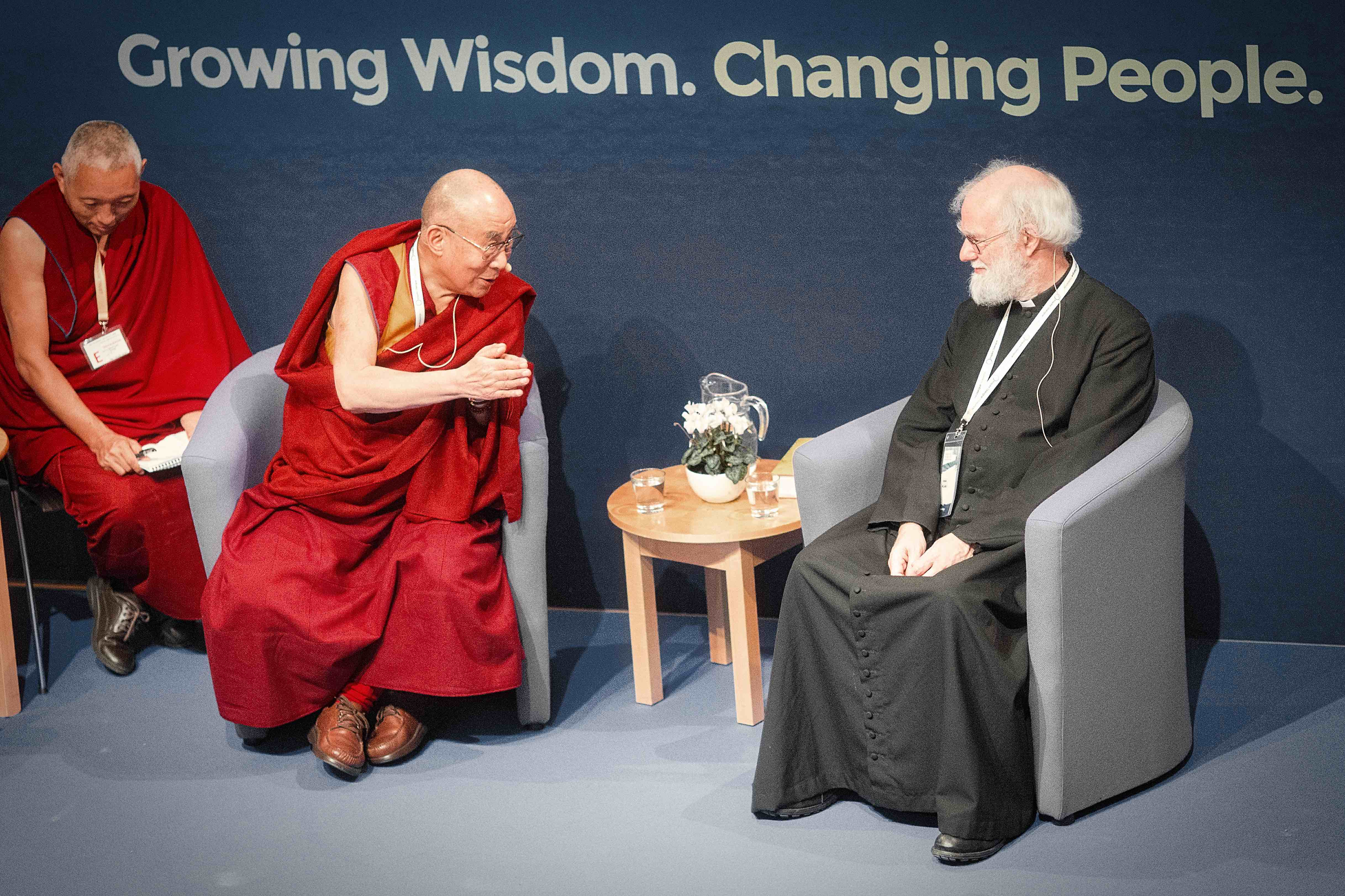 His Holiness The Dalai Lama with Lord Rowan Williams at Inspire Dialogue 2015
