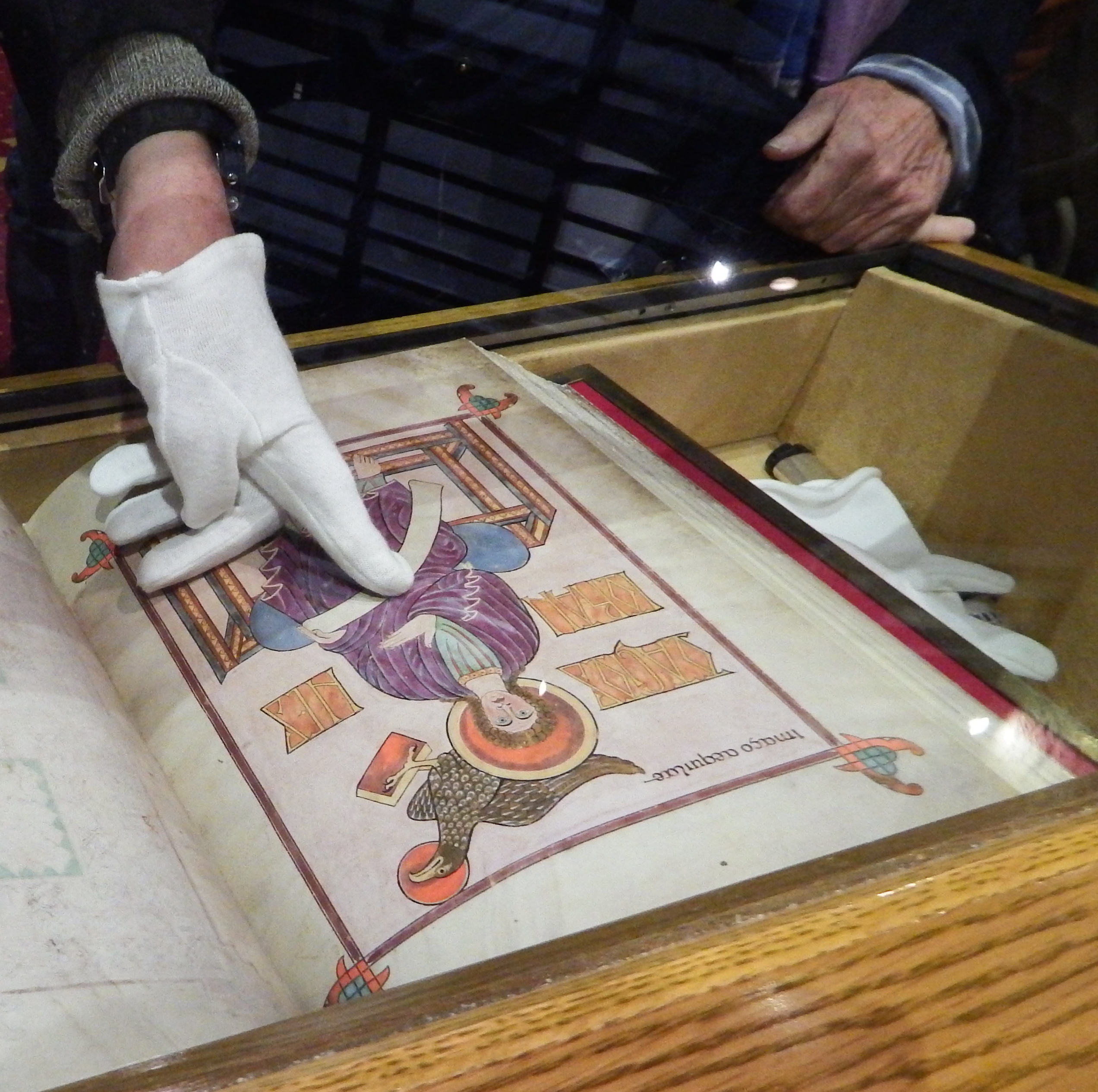 Facsimile of the Lindisfarne Gospels at Chester-le-Street. Photograph by Richard Twinch