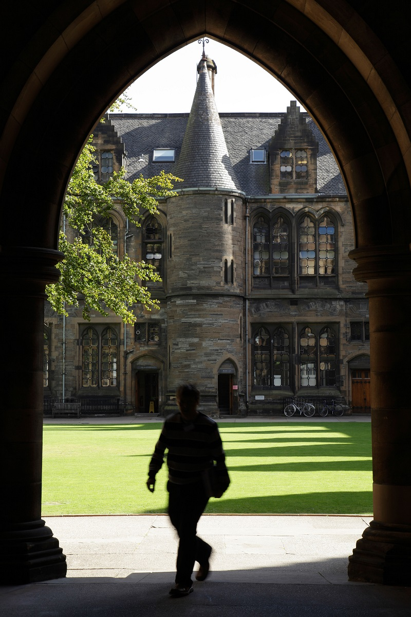Glasgow University; view of the Eastern Quadrangle. Photographer Kenny Williamson Alamy Stock Photo
