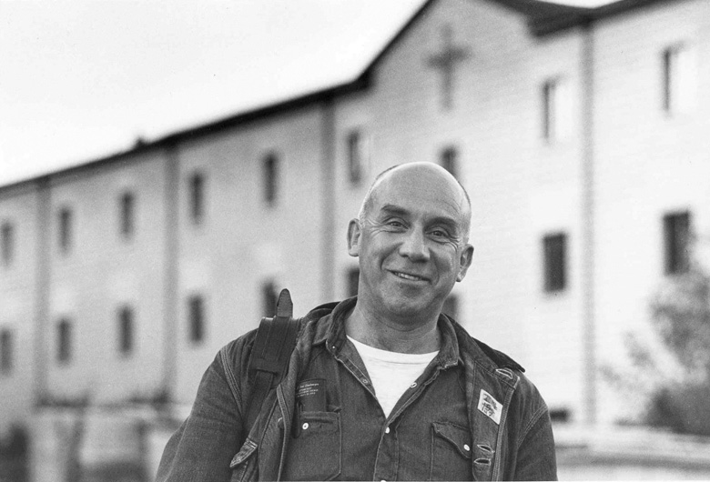 Thomas Merton at Gethsemeni, photograph courtesy of the Merton Legacy Trust
