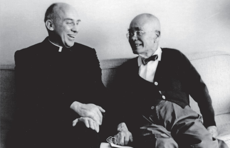 Thomas Merton with D.T. Suzuki. Used with permission of the Merton Legacy Trust and the Thomas Merton Center at Bellarmine University.