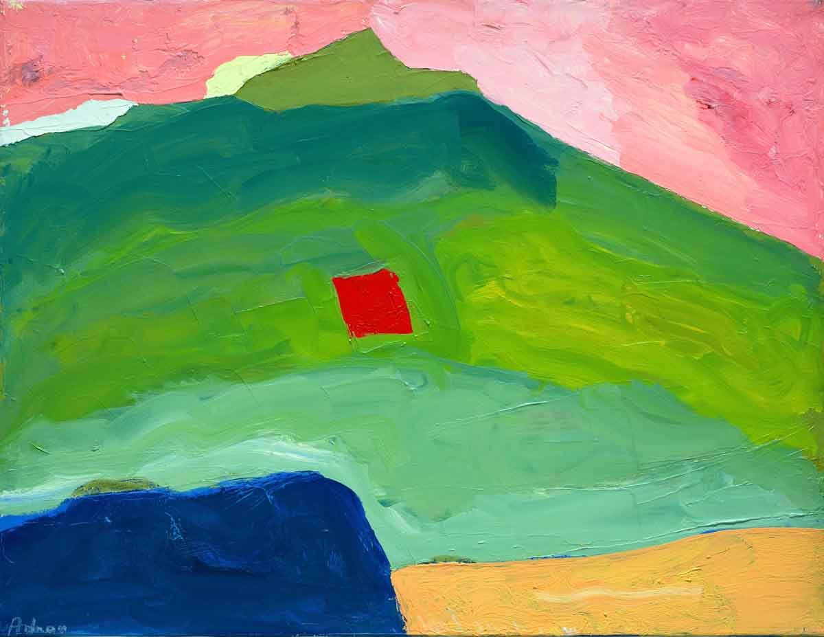 Etel Adnan; Untitled, ca. 1995-2000, oil on canvas 35 x 45.5 cm. Courtesy the artist and Sfeir-Semler Gallery, Hamburg / Beirut, and Serpentine Galleries.