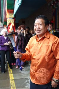 Akong Rinpoche at the Samye Ling Temple, June 2011. Photograph by Louise Adams.