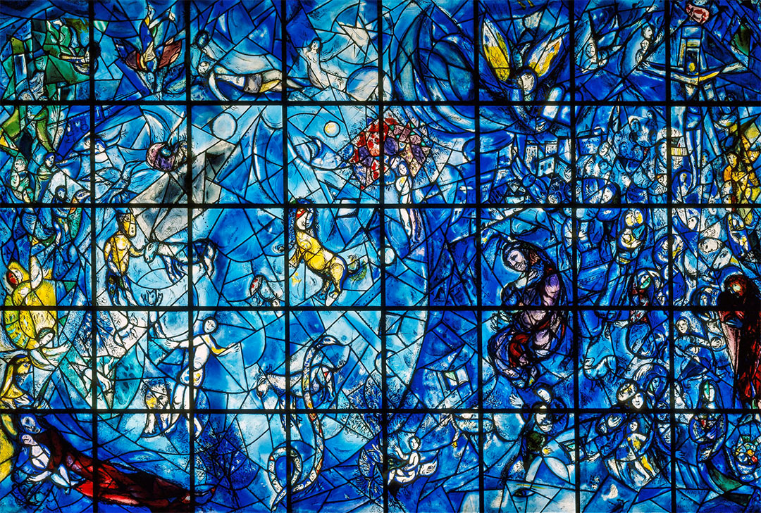 Chagall Peace Window and the Meditation Room in the United Nations building