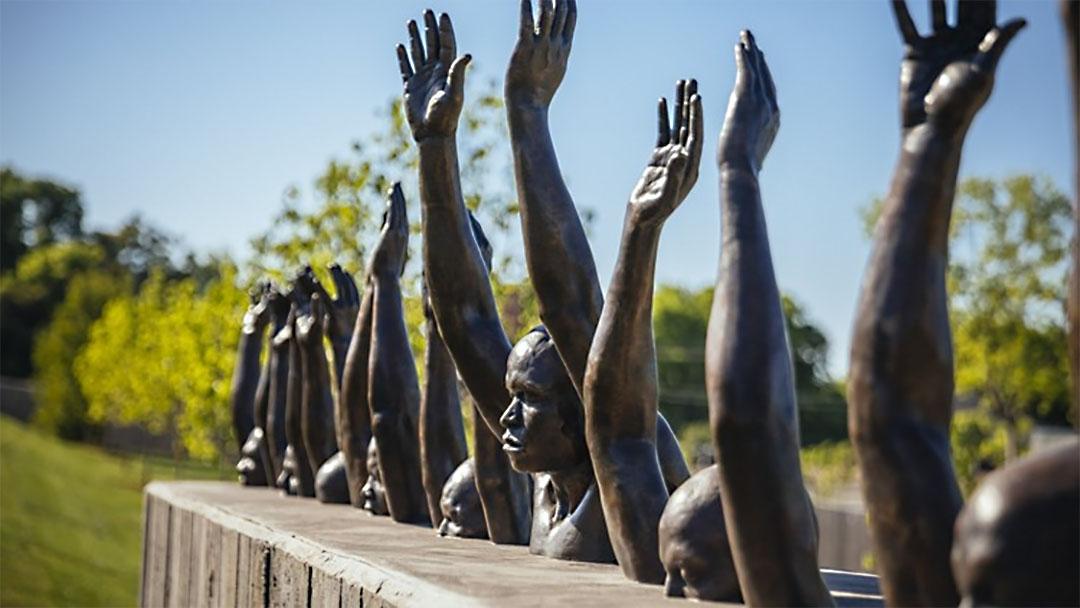 'Raise Up' sculpture by Hank Willis Thomas