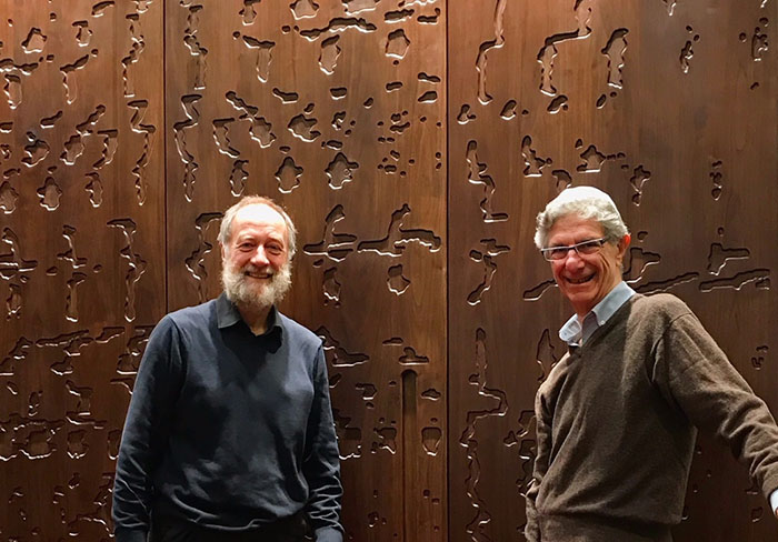 David Hyams and Jim Woodhouse in the Oxford Synagogue