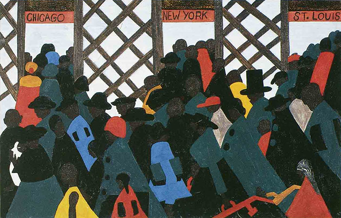 Jacob Lawrence, 'The Migration of the Negro, Panel no.1.