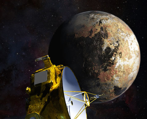 An artist's drawing shows the New Horizons spacecraft as it nears Pluto. Photograph: NASA