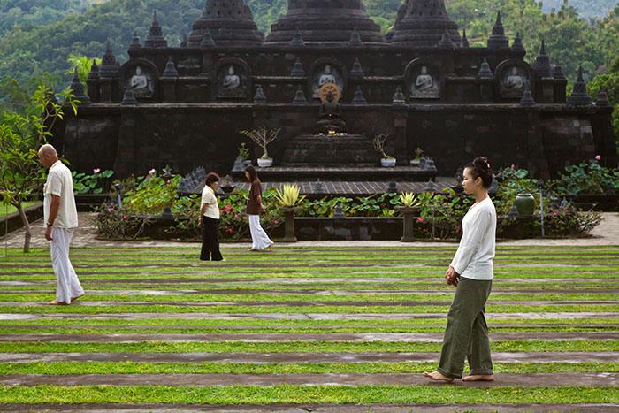 Walking meditation in Bali